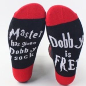 "Harry Potter ""Dobby is Free"" Socks Brand New!!"